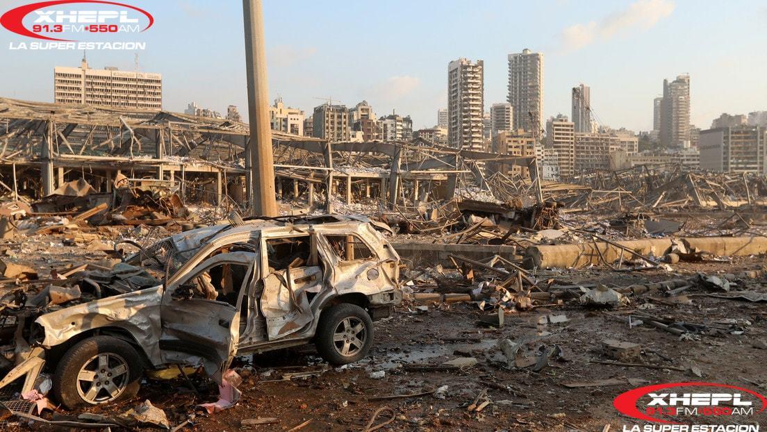Explosión en Beirut suma 154 muertos; hubo al menos 5 mil heridos
